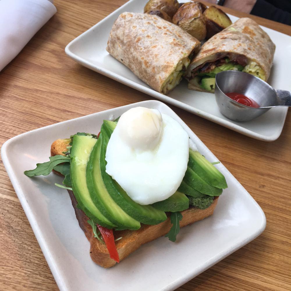 Avocado toast from Samovar Tea Lounge by A Lady Goes West