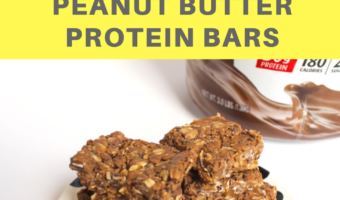 Super easy no-bake chocolate peanut butter protein bars