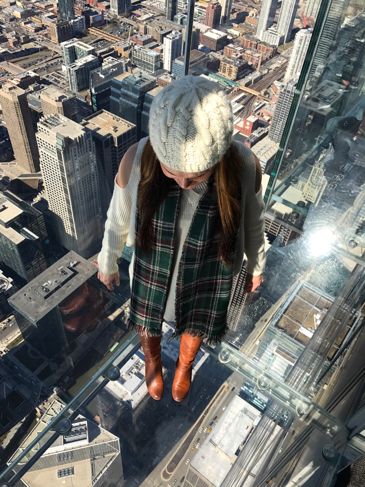 Ashley on the Skydeck in Chicago by A Lady Goes West