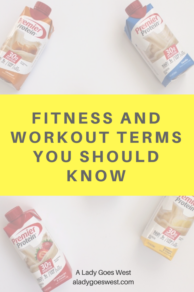 Fitness and workout terms you should know by A Lady Goes West