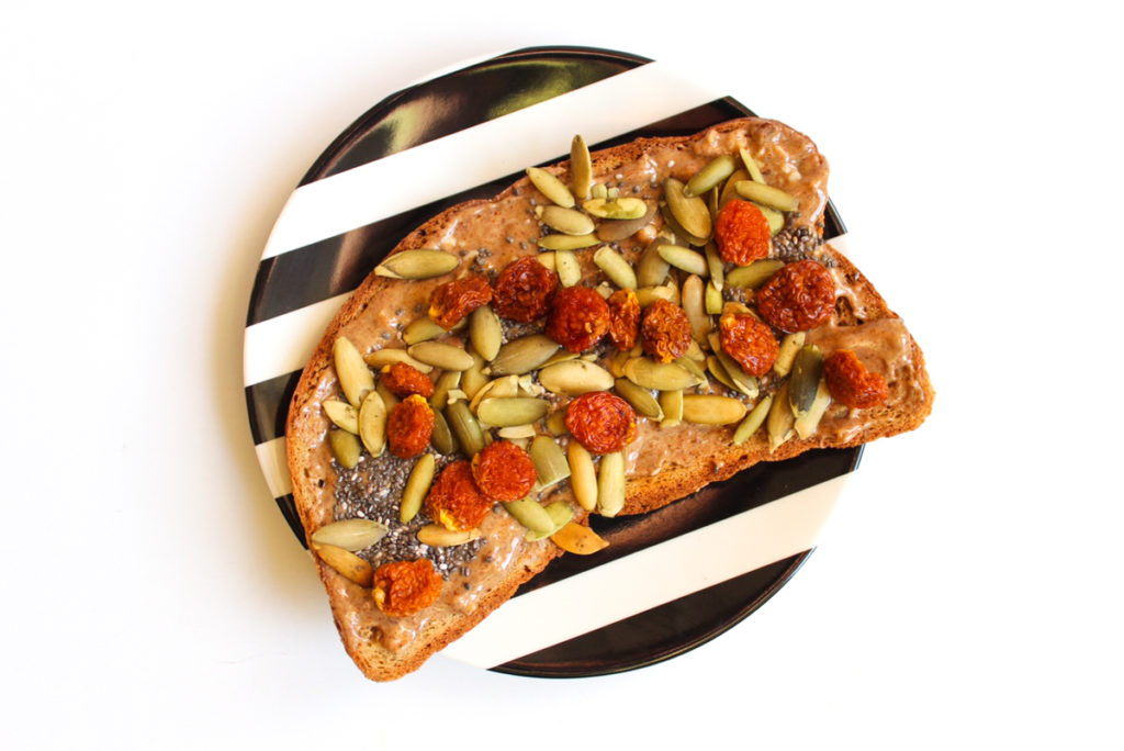 Superfood toast breakfast by A Lady Goes West