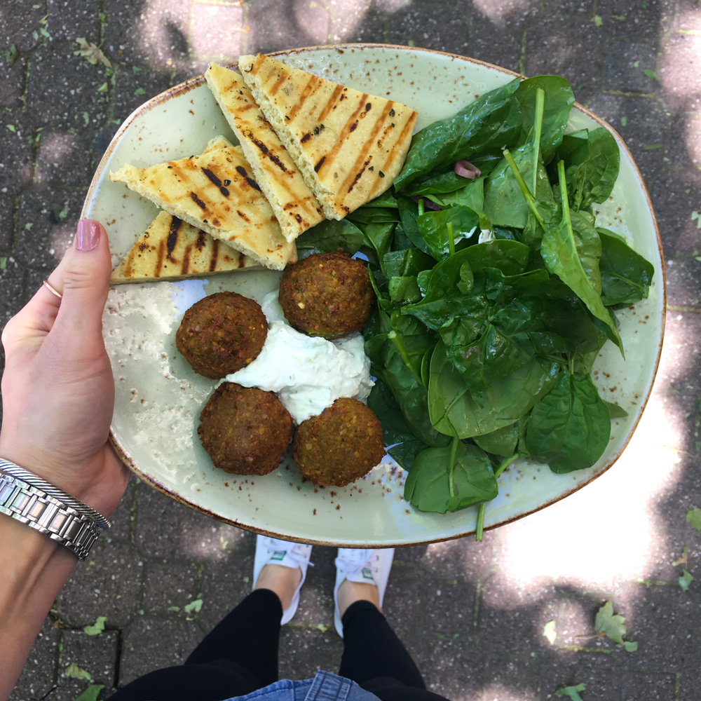 Falafel salad from Tender Greens by A Lady Goes West