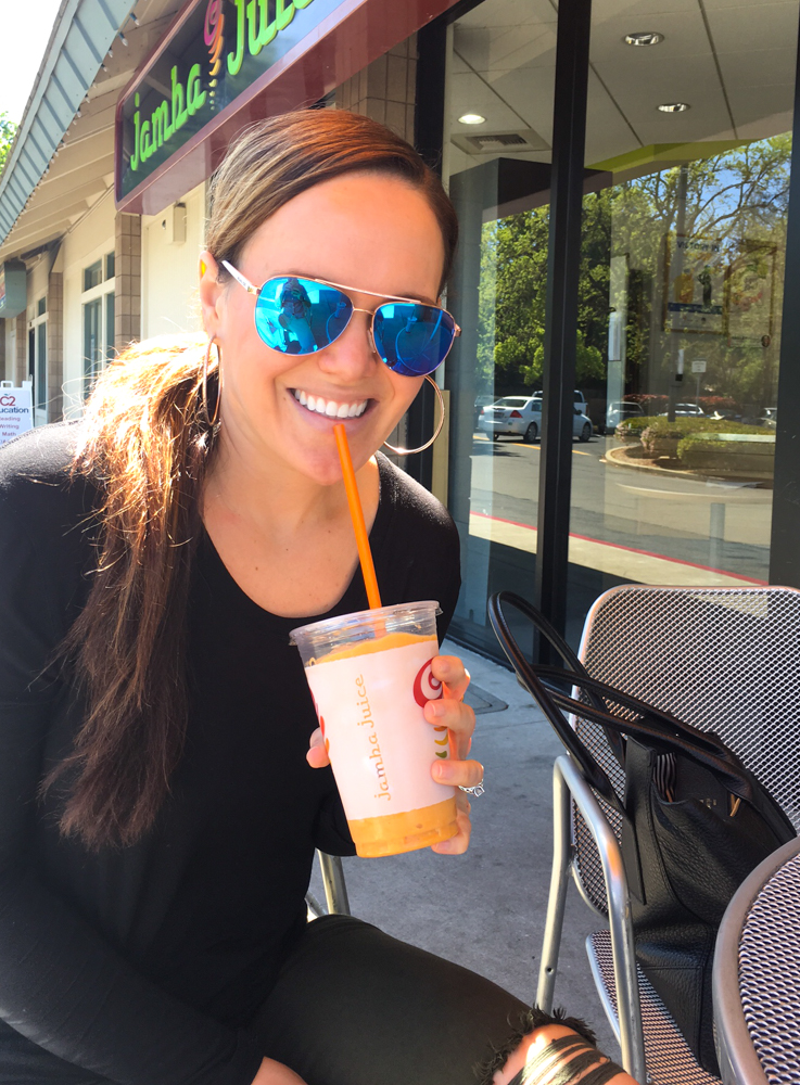Jamba Juice date by A Lady Goes West