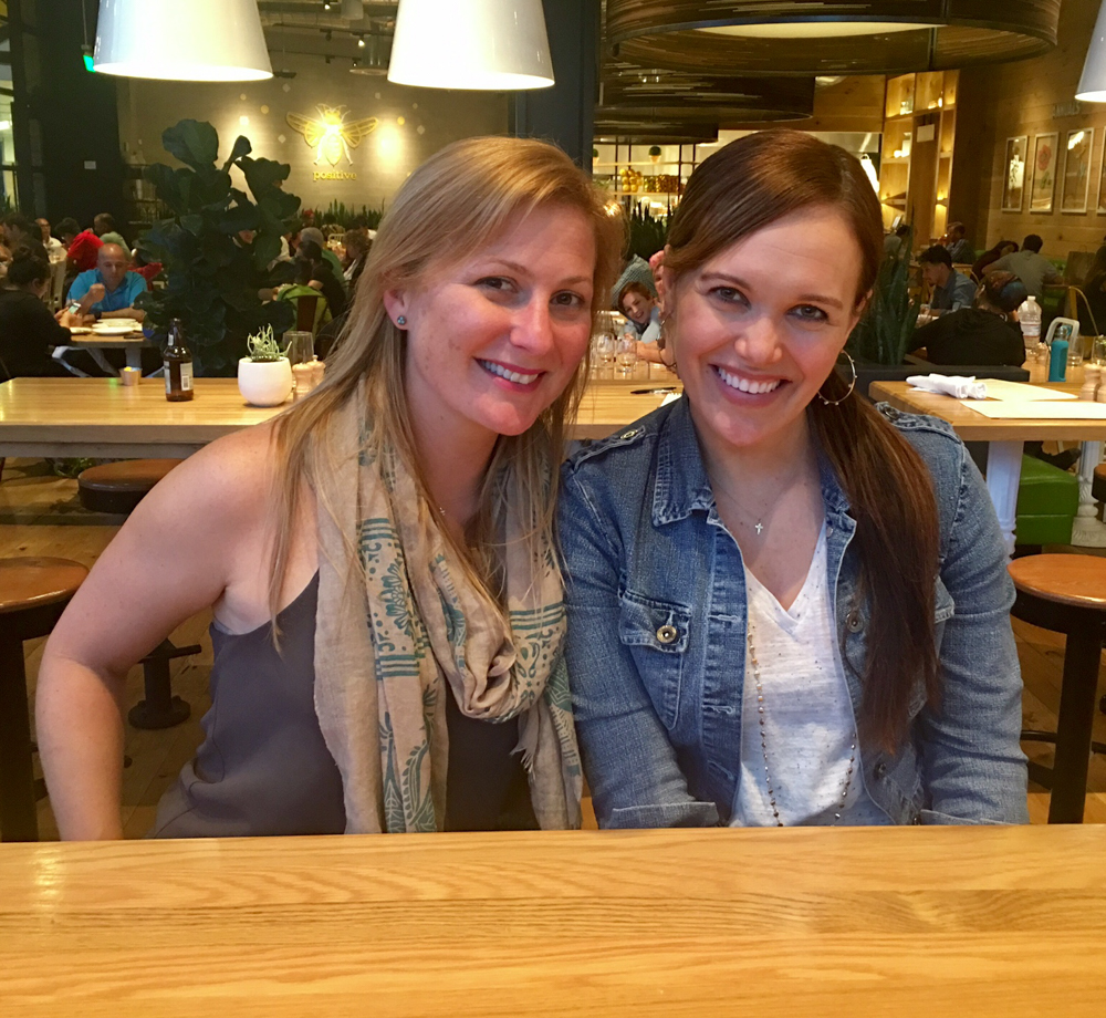 Ashley and Chelsea at True Food by A Lady Goes West