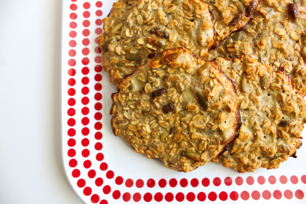 Vanilla healthy protein breakfast cookies recipe by A Lady Goes West