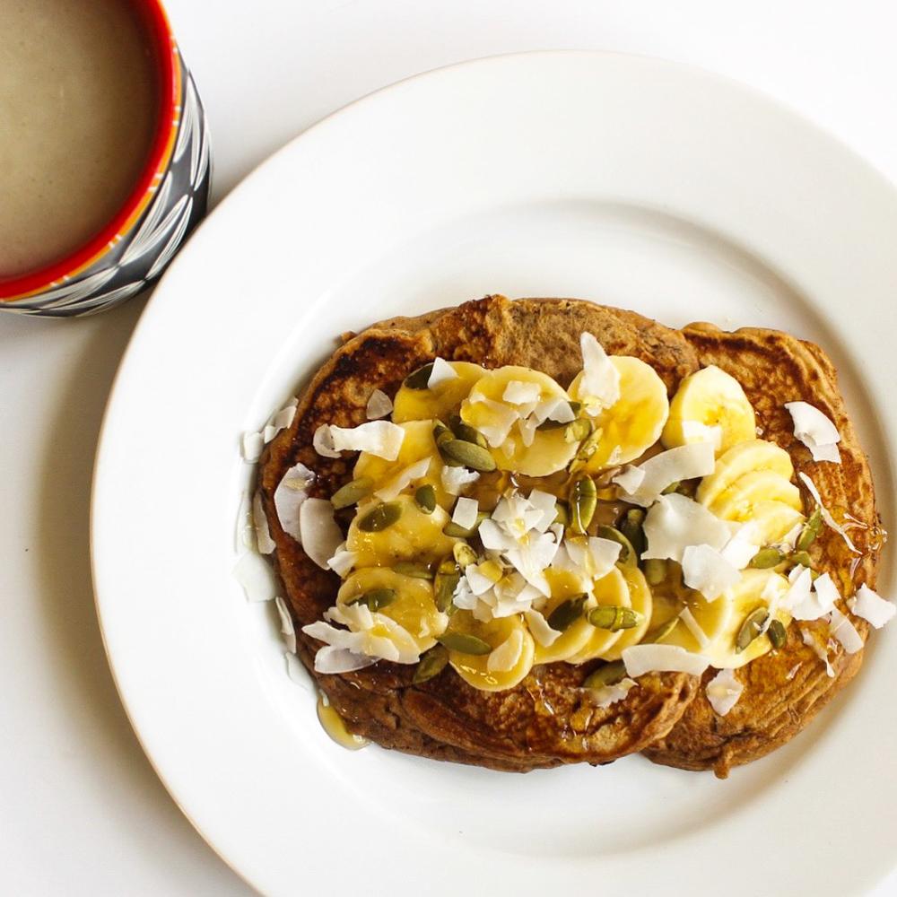 7-grain pancake breakfast by A Lady Goes West