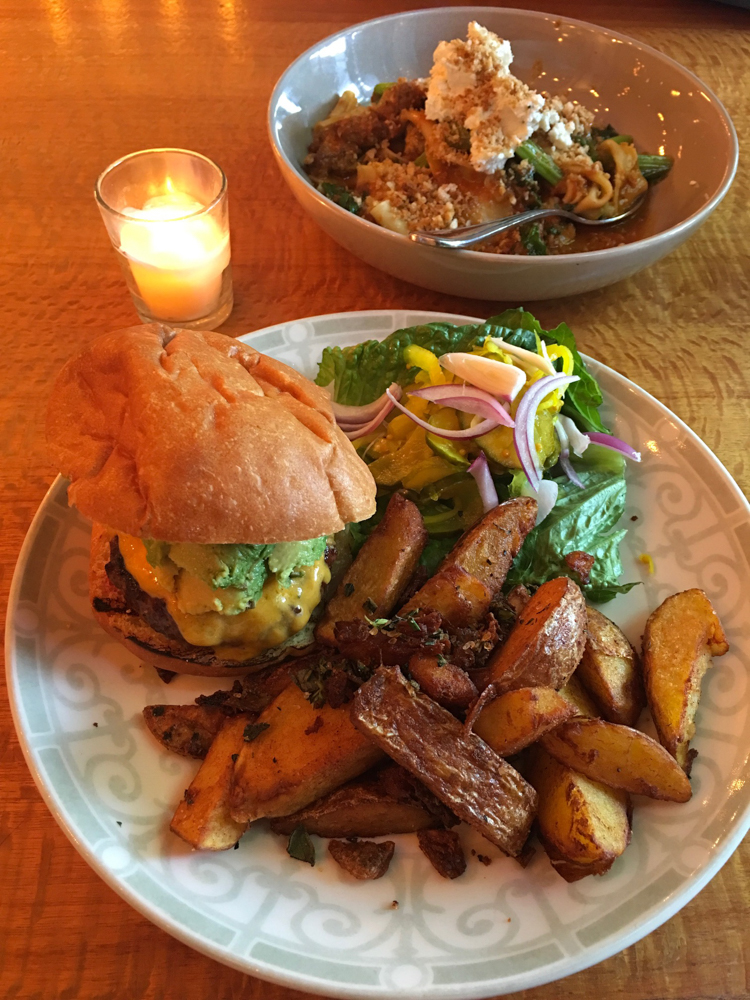 Burger dinner at Main Street Kitchen by A Lady Goes West