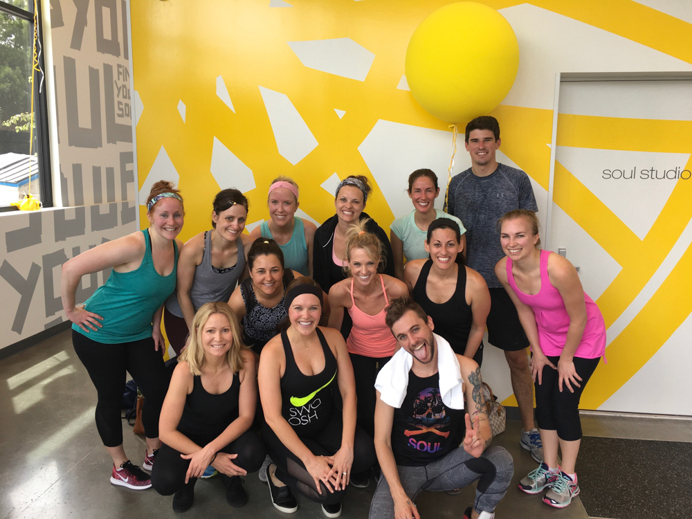 Group after SoulCyle Berkeley class by A Lady Goes West