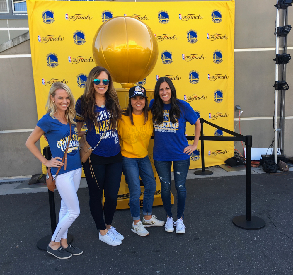 Ladies before game 2 Warriors game by A Lady Goes West