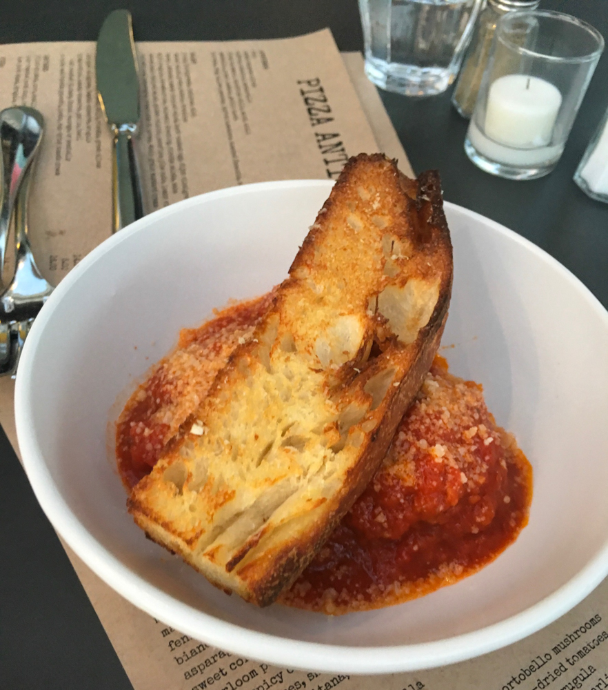 Meatballs at Pizza Antica by A Lady Goes West