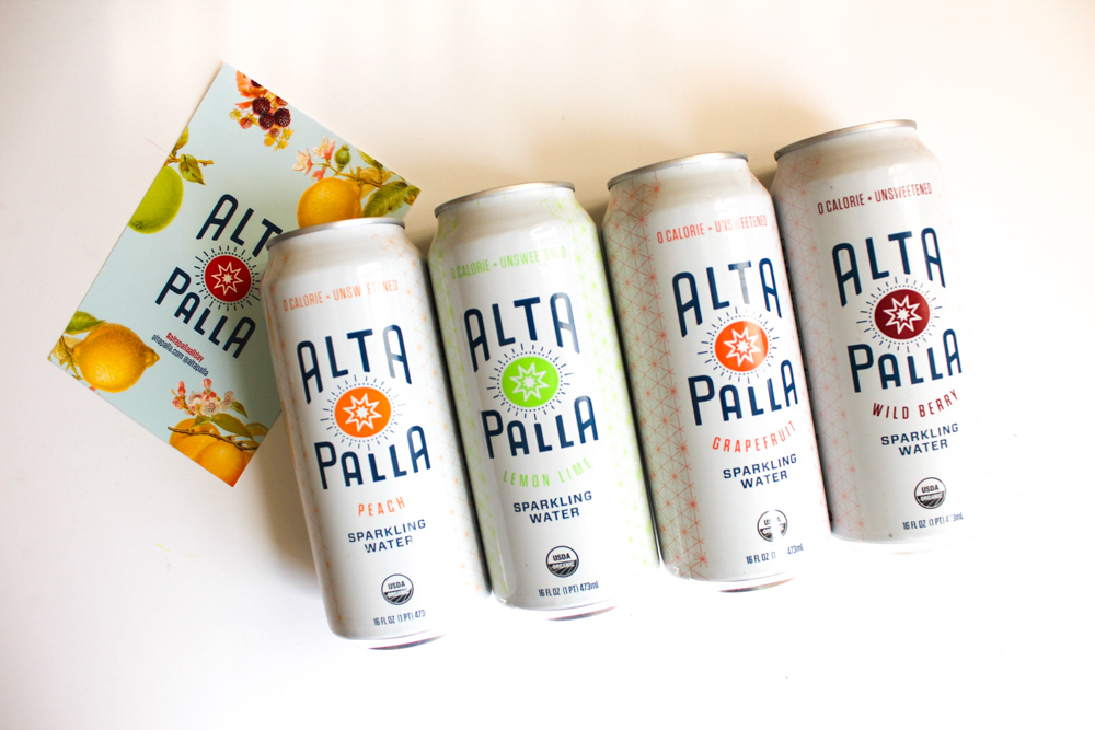 Alta Palla sparkling water by A Lady Goes West
