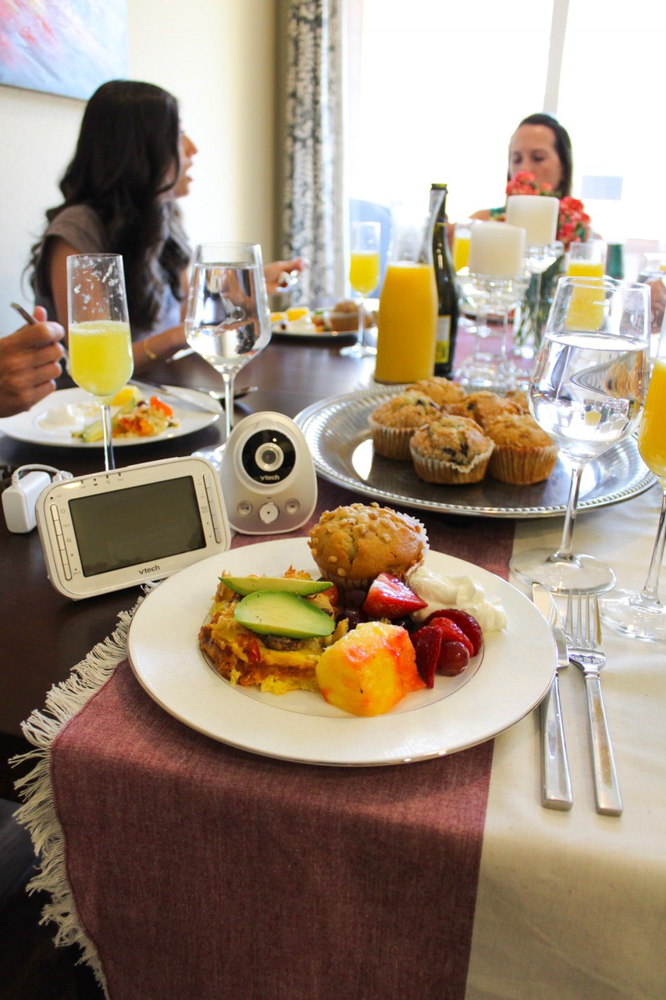 Ladies brunch scene - What to expect when you're expecting - VTech Baby Monitor by A Lady Goes West