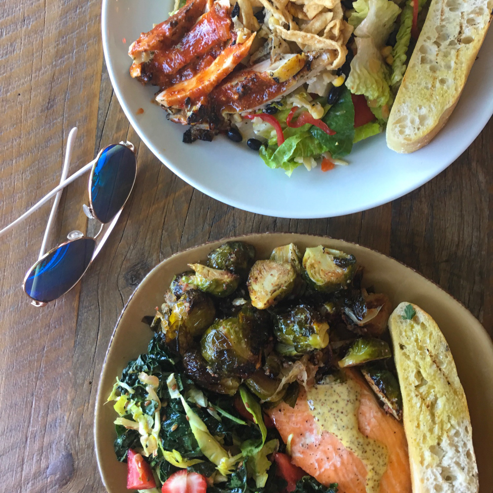 Lunch plates at Urban Plates by A Lady Goes West