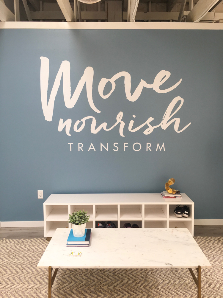 Move Nourish Transform studio by A Lady Goes West