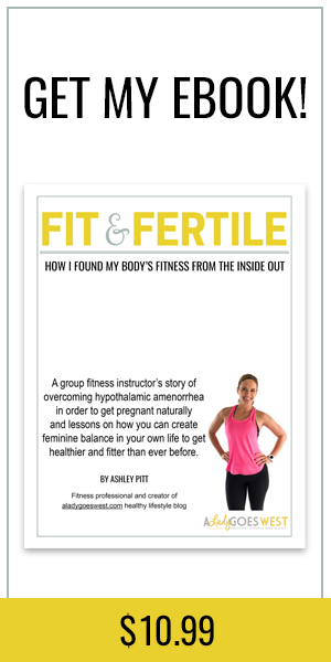 Fit & Fertile ebook: How I found my body's fitness from the inside out by overcoming hypothalamic amenorrhea.