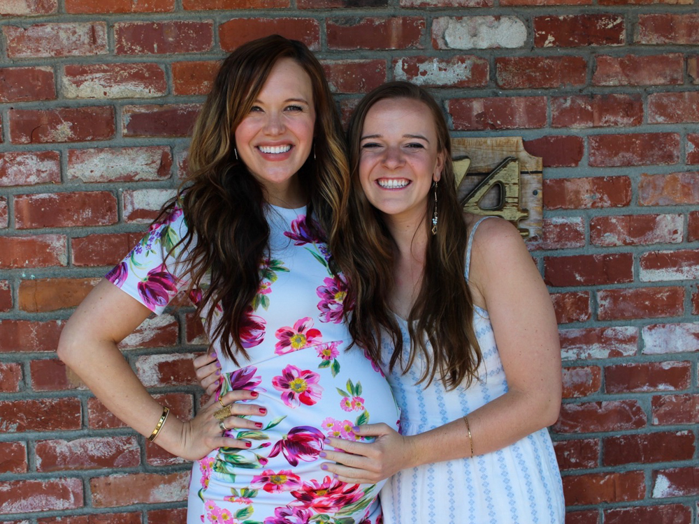 Ashley with Gwena at my baby shower by A Lady Goes West