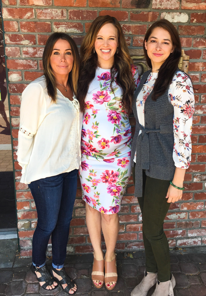 Ashley with cousins at my California baby shower by A Lady Goes West