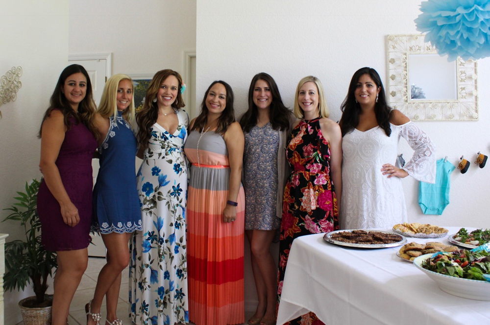 Girlfriends at the baby shower by A Lady Goes West