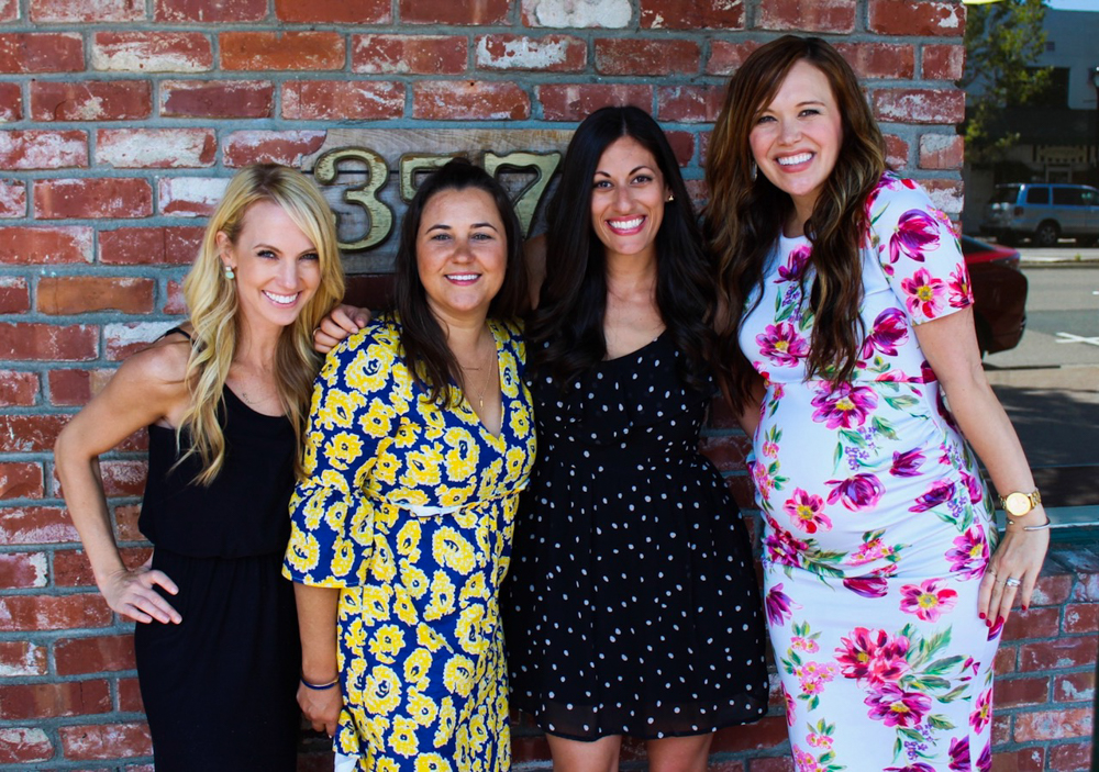 Hostesses of my California baby shower by A Lady Goes West