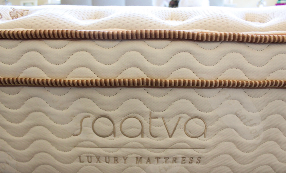 Saatva Luxury Firm mattress by A Lady Goes West