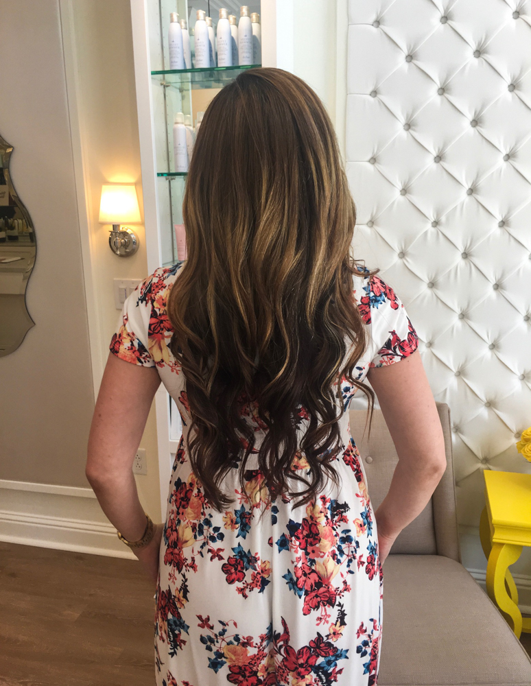 Ashley after Drybar blowout from the back by A Lady Goes West