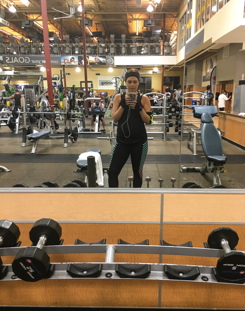Ashley working out by A Lady Goes West