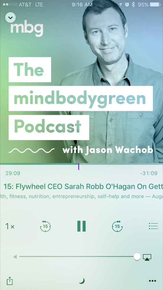Mindbodygreen podcast by A Lady Goes West