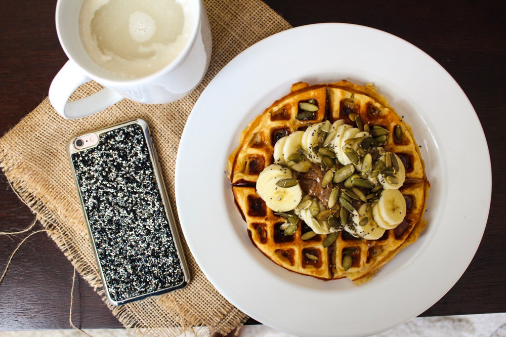 Waffle breakfast on Sunday by A Lady Goes West