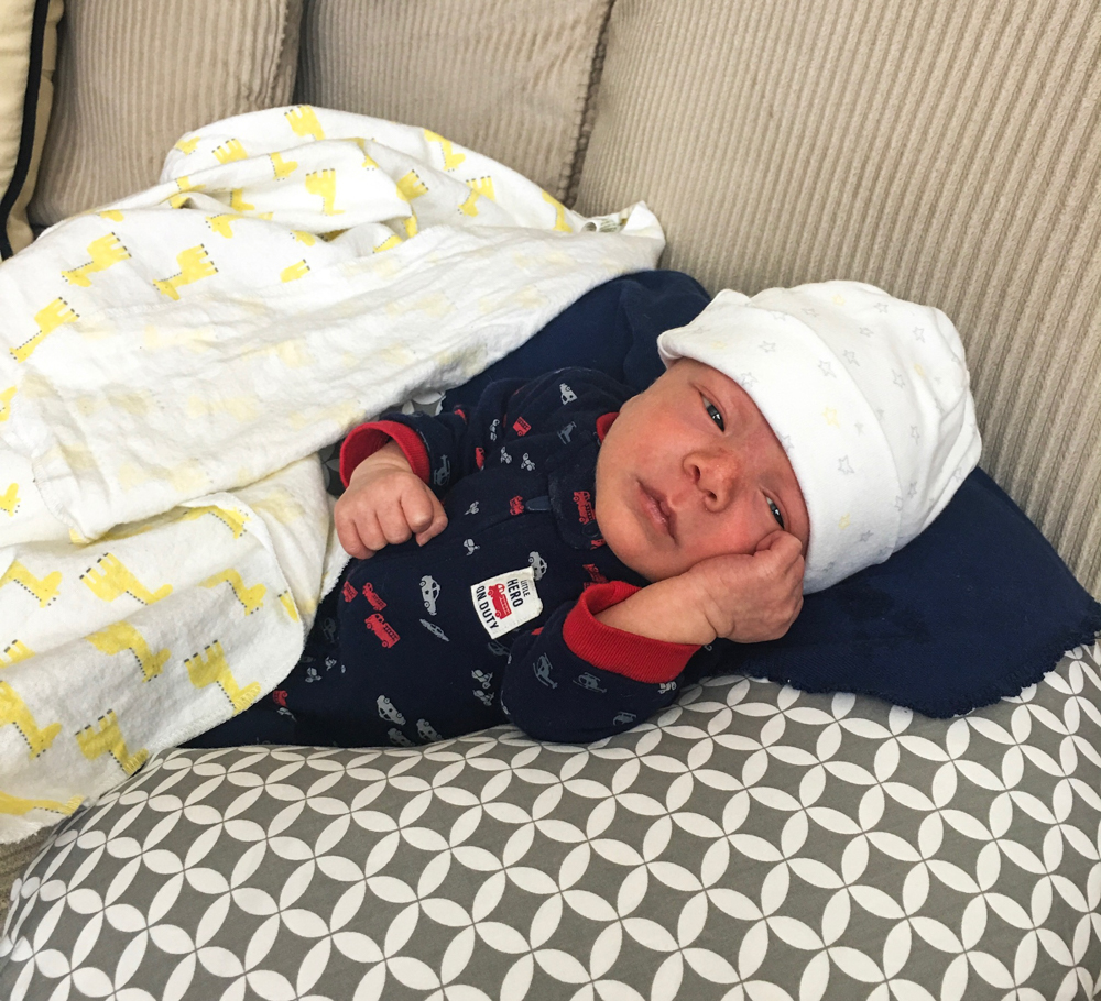 Baby Brady at 8 days by A Lady Goes West