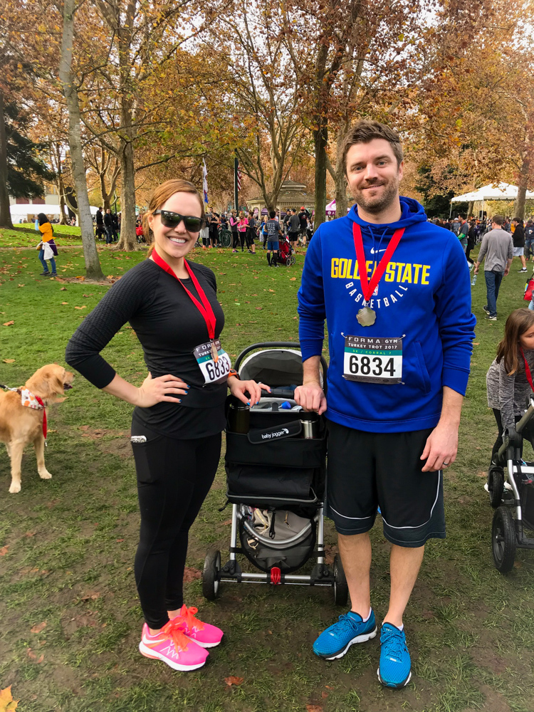 Ashley and Dave at the Turkey Trot in Walnut Creek by A Lady Goes West