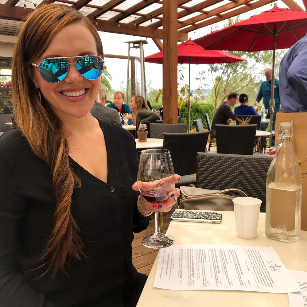 Ashley at Anaba Winery by A Lady Goes West