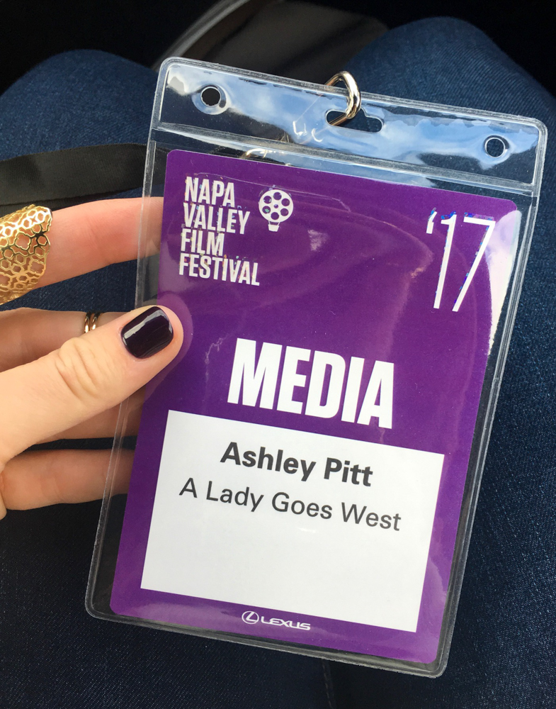 Napa Valley Film Festival media pass by A Lady Goes West