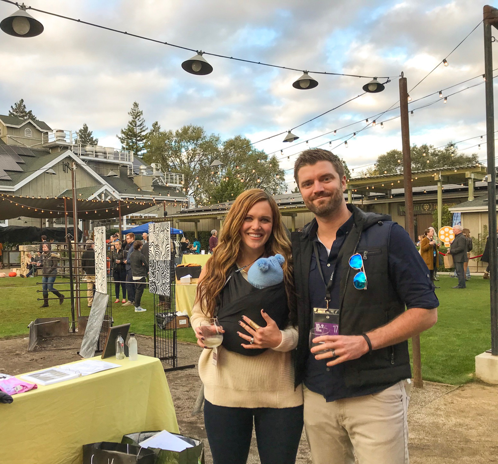 Pitt family at the Napa Valley Film Festival art event by A Lady Goes West