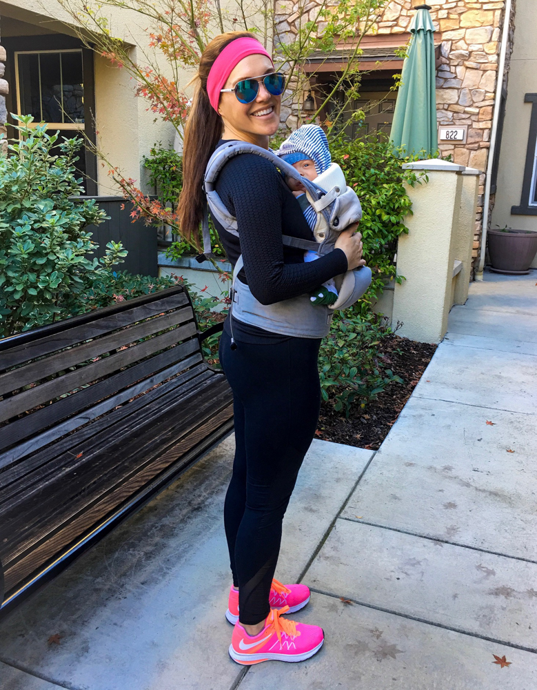 Ashley and Baby Brady at 10 weeks in December 2017 by A Lady Goes West