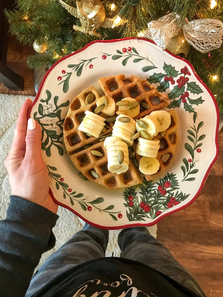 Christmas Day waffle 2017 by A Lady Goes West