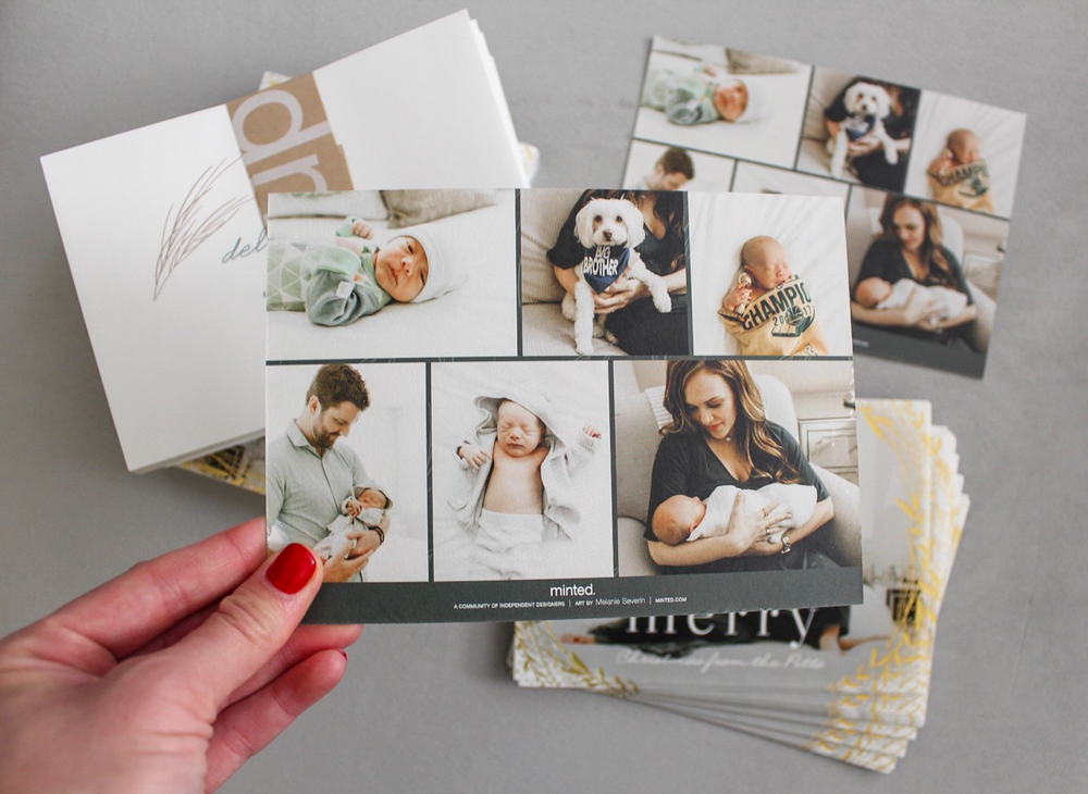 Minted holiday photo cards by A Lady Goes West