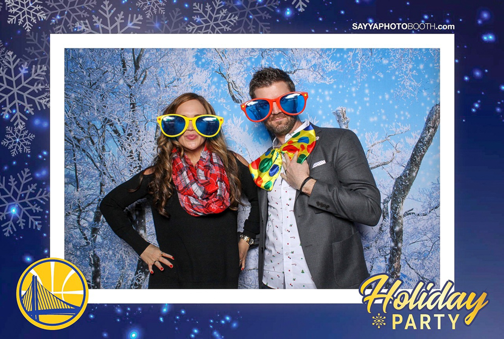 Warriors holiday party photobooth with Dave in San Francisco by A Lady Goes West