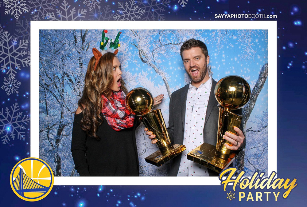 Warriors holiday party with Dave in San Francisco by A Lady Goes West
