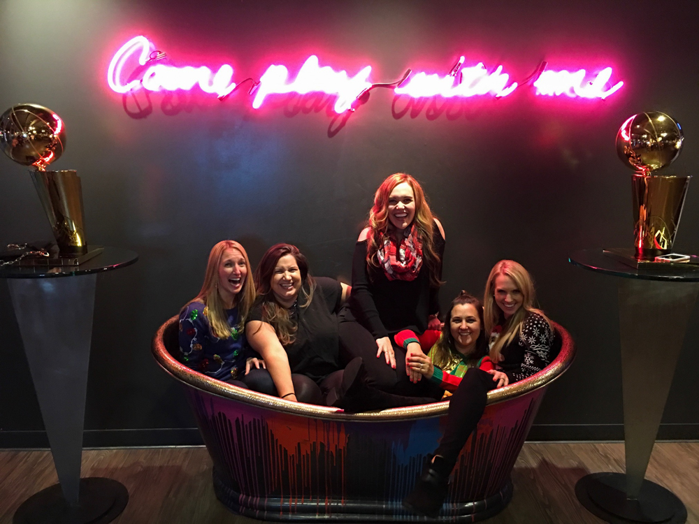 Warriors wives at Spin in San Francisco by A Lady Goes West