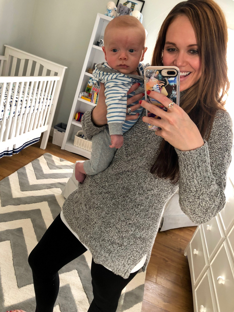 Ashley and Brady in nursery by A Lady Goes West
