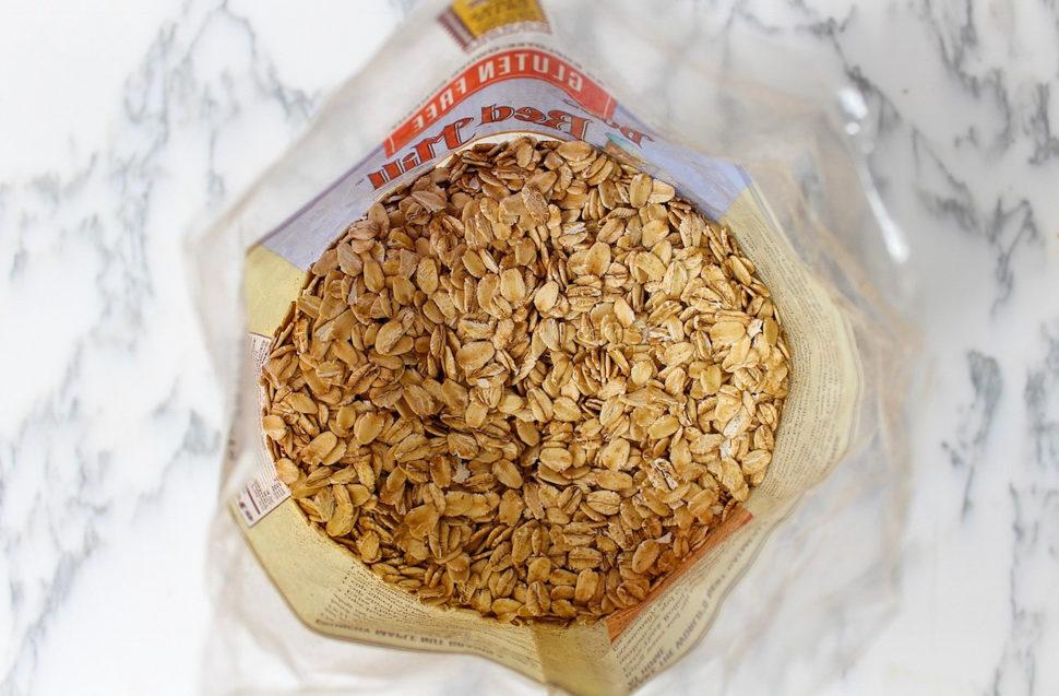 The creamiest warm almond butter oatmeal breakfast bowl recipe by A Lady Goes West