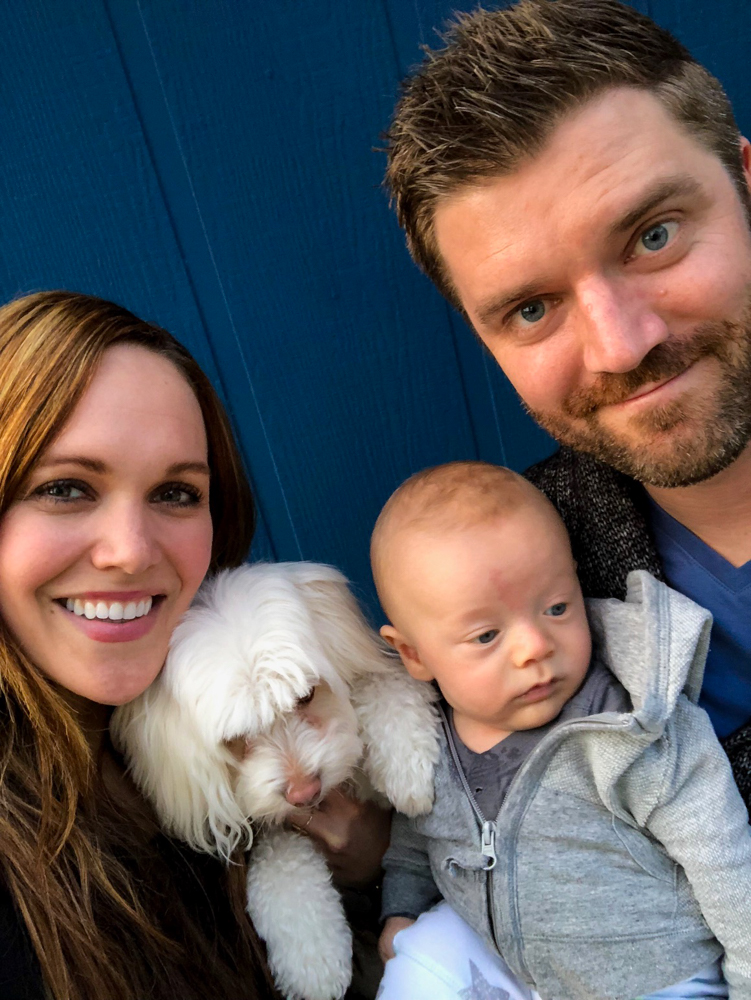 Family selfie outside by A Lady Goes West