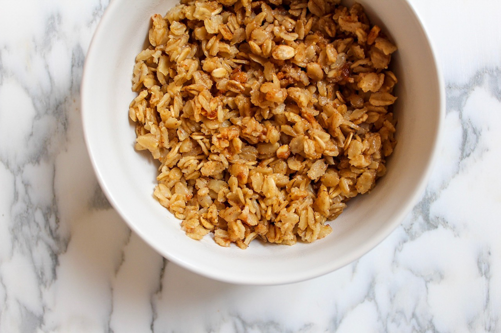 Super creamy warm almond butter oatmeal by A Lady Goes West