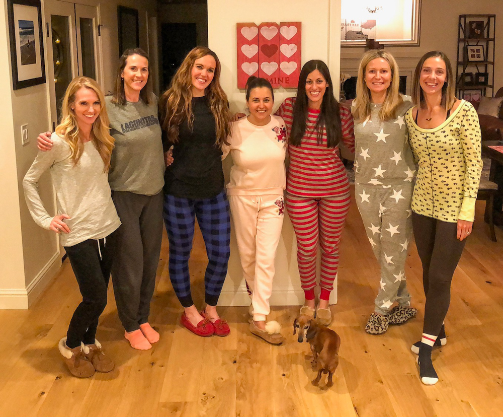 Ladies' pajama party by A Lady Goes West