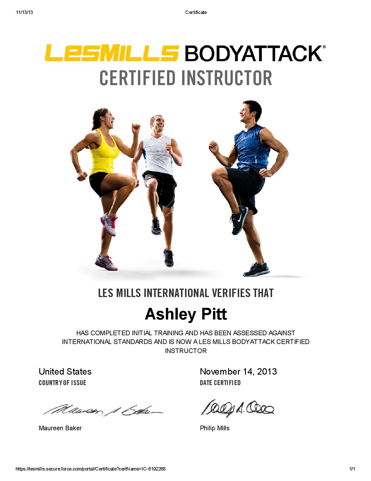 Bodyattack Certificate A Lady Goes West
