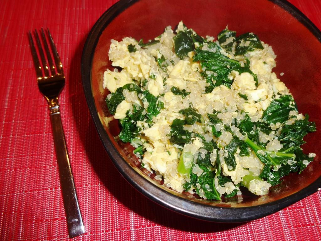 Quinoa egg scramble