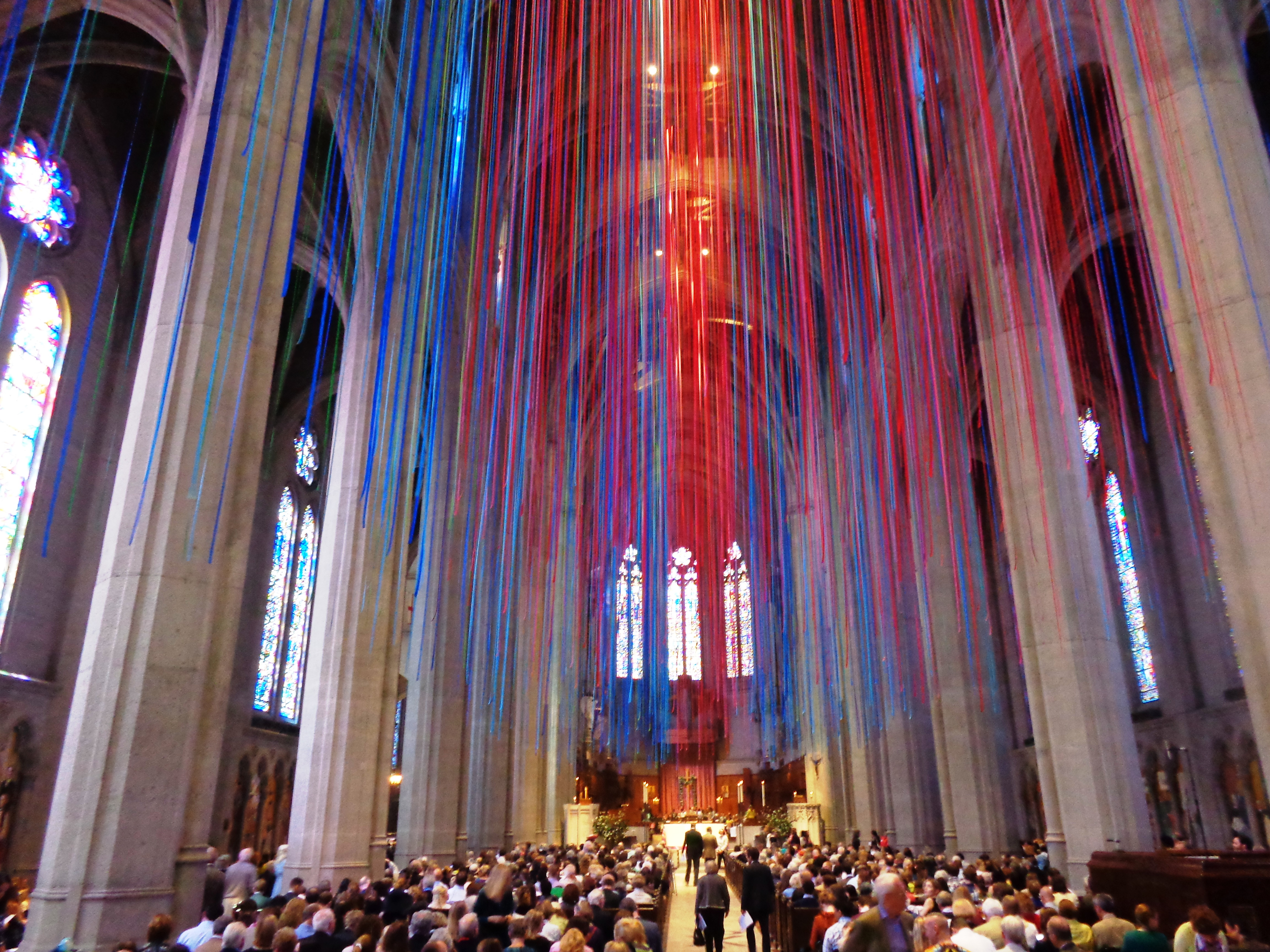 Grace Cathedral Grace of Light display