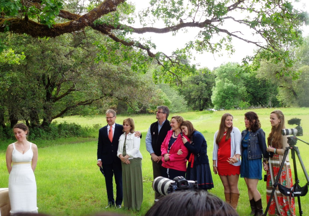 Hendy Woods State Park ceremony
