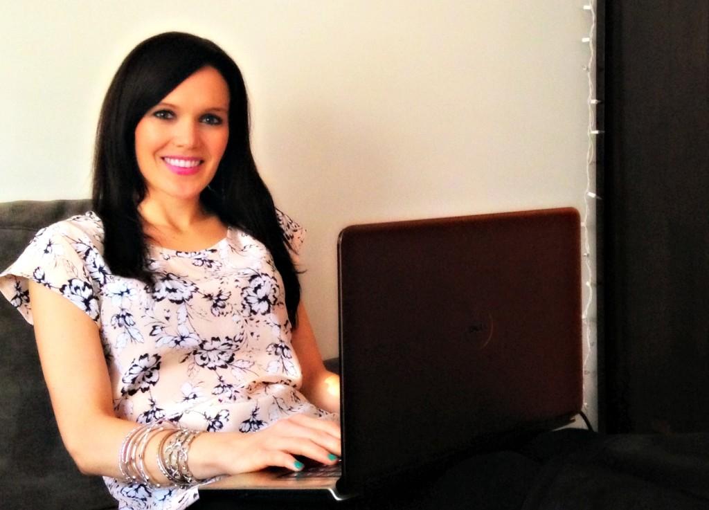 Ashley blogging