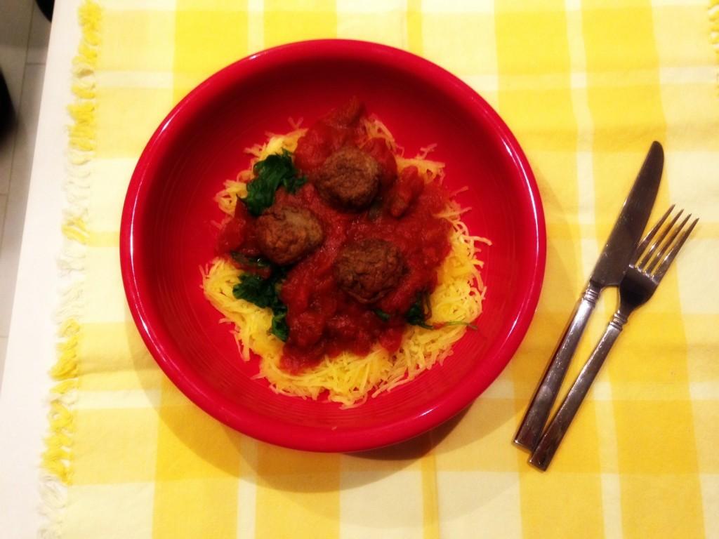 Dinner spaghetti squash